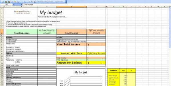 Personal Budget Spreadsheet In Excel Personal Budget Spreadsheet Spreadsheet Templates for Business, Budget Spreadsheet