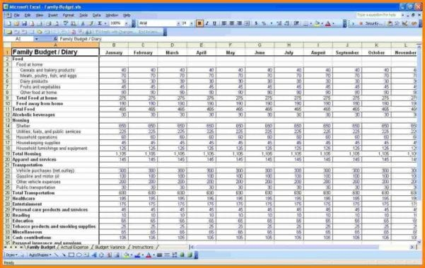Personal Budget Spreadsheet Template Excel
