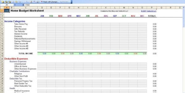 Personal Budget Spreadsheet Uk