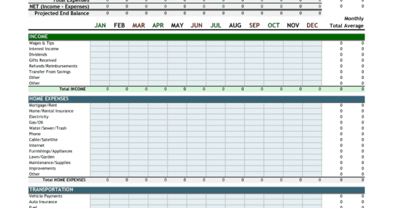 Personal Finance Spreadsheet Template Free1
