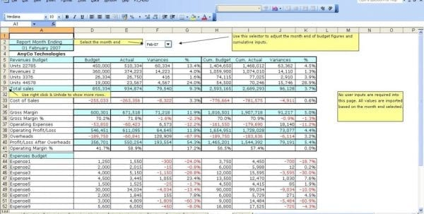 Personal Finance Spreadsheet Template1