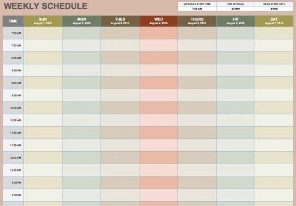 Printable Blank Spreadsheet Templates