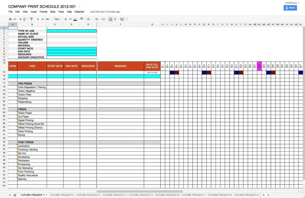 Project Management Dashboard Excel Template Free Download 2