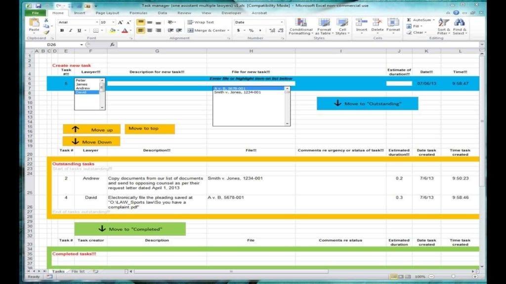 Project Management Sheet Template