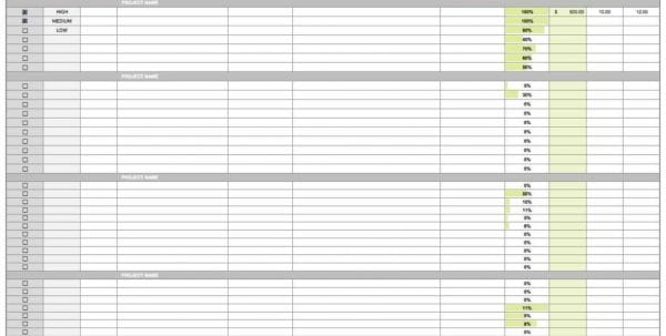 Project Management Tracking Templates Free Excel