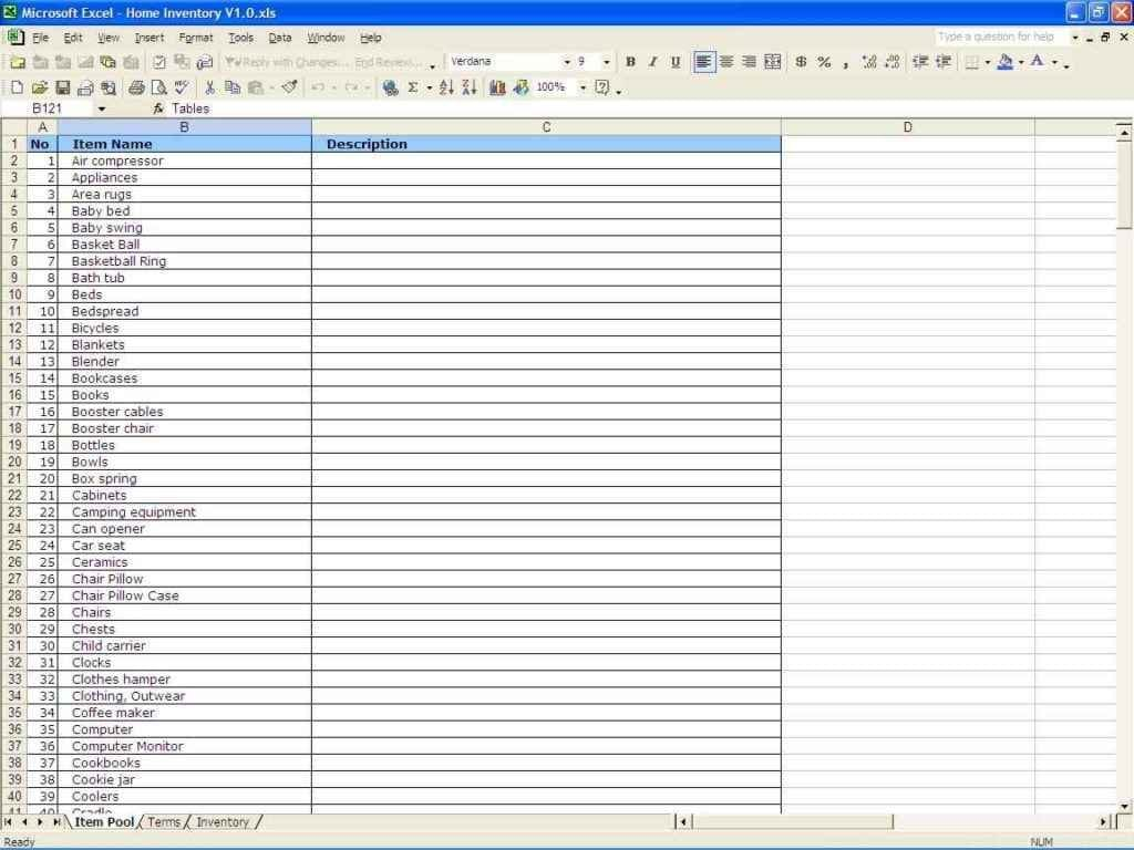 Restaurant Inventory Management Excel
