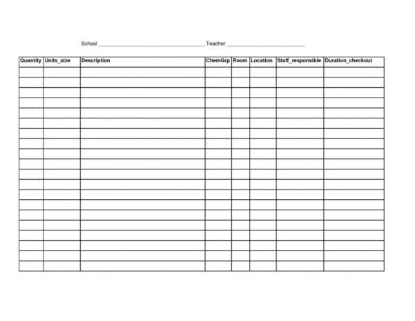 Restaurant Inventory Spreadsheet Template