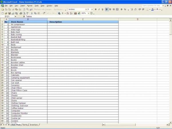Restaurant Inventory Spreadsheet Template Free
