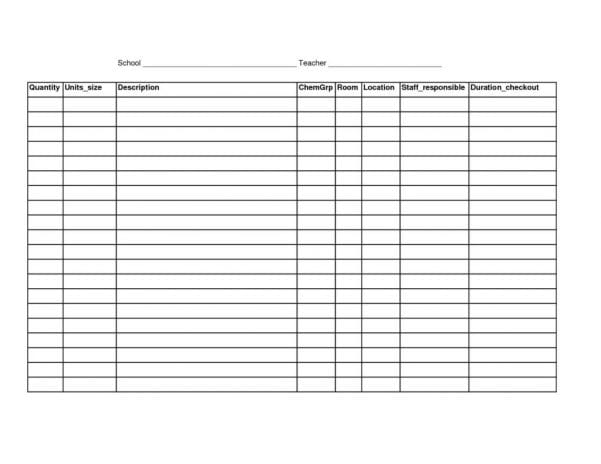 Restaurant Inventory Spreadsheet Template Free