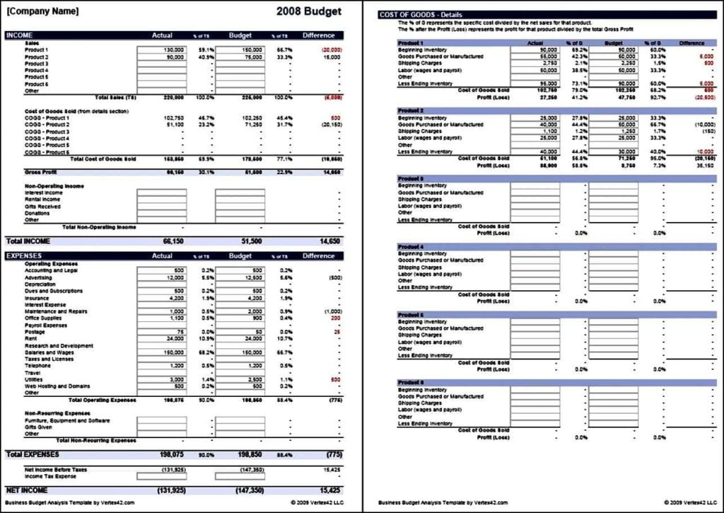 Sample Accounting Spreadsheet For Small Business