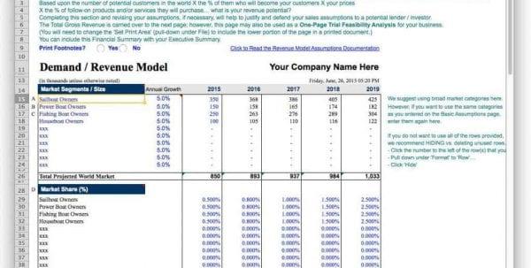 Sample Budget Forecast Spreadsheet1