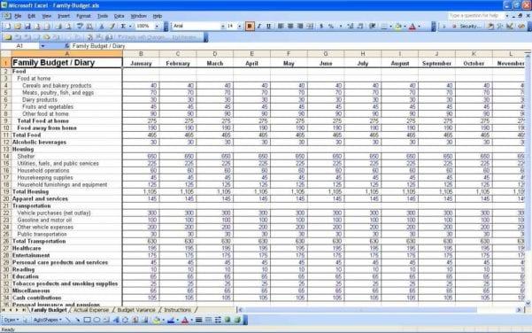 Sample Business Expense Spreadsheet