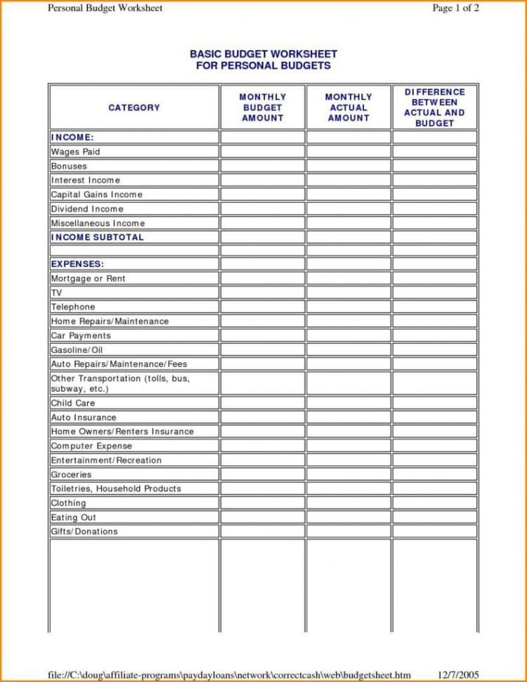 Sample It Budget Spreadsheet