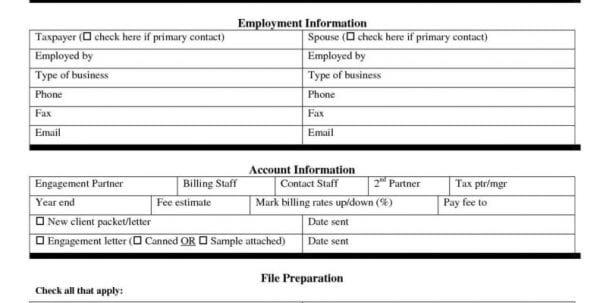 Sample Personal Data Sheet