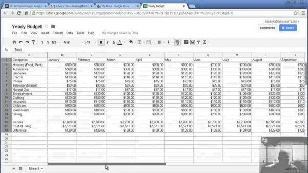 Sample Spreadsheet For Household Budgeting