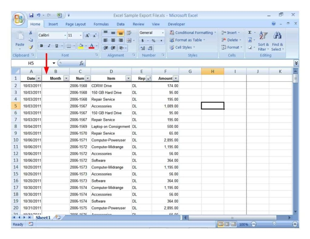 Sample Spreadsheet With Data