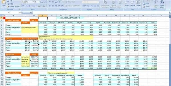 Simple Bookkeeping Spreadsheet Template Free1