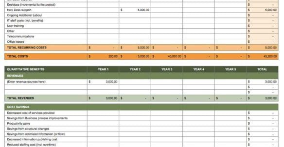 Simple Excel Spreadsheet Template