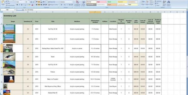 Simple Inventory Control Spreadsheet