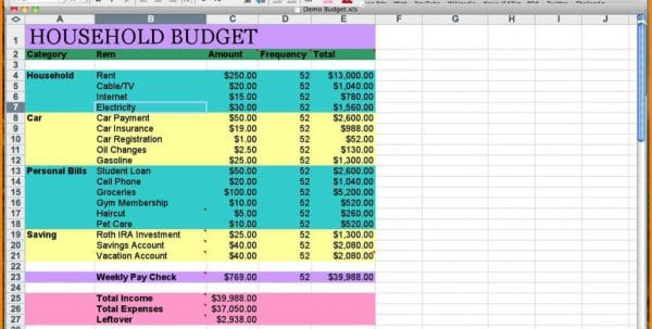 Simple Monthly Budget Sheet Sample Household Budget Spreadsheet Household Spreadsheet, Spreadsheet Templates for Business, Budget Spreadsheet