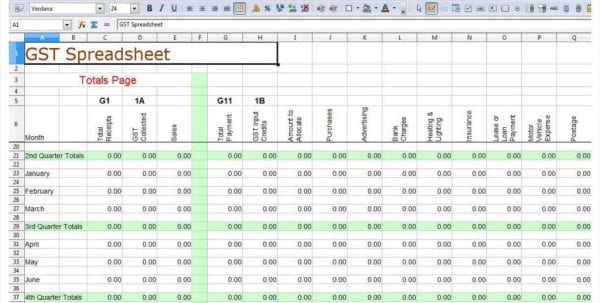 Simple Spreadsheet Software