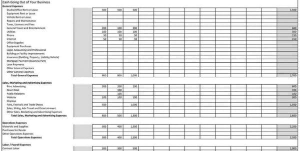 Small Business Accounting Spreadsheet