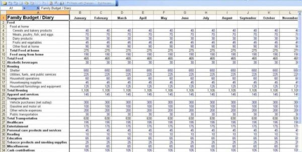 Small Business Expense Tracking Spreadsheet Template Spending