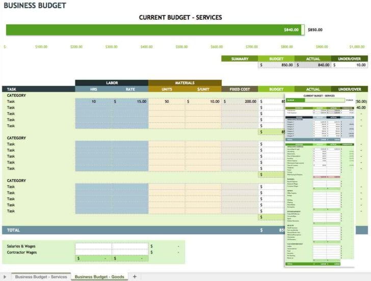 Small Business Spreadsheet Templates