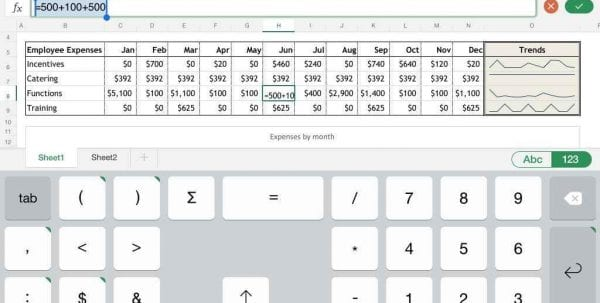Spreadsheet App For Mac