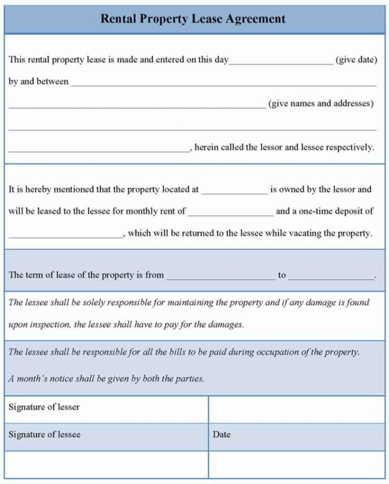 Spreadsheet Template For Rental Property