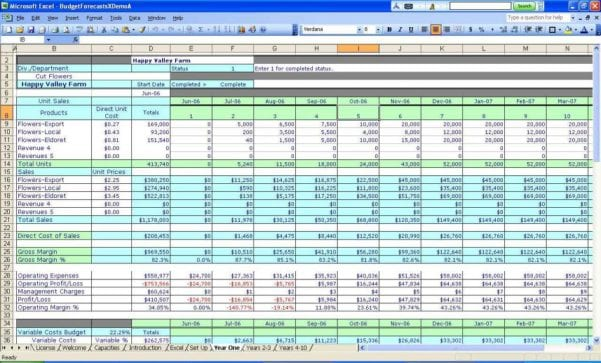 Spreadsheets Examples For Small Business