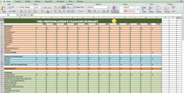 Spreadsheets Excel Templates