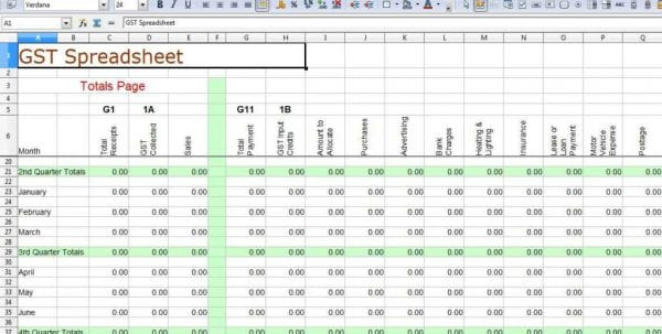 Template For Small Business Bookkeeping