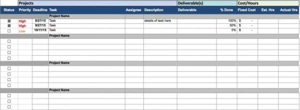 Time Management Template Excel Free