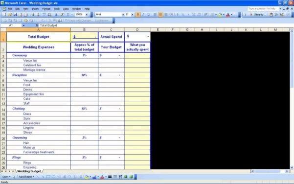Wedding Guest List Spreadsheet Excel