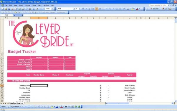 Wedding Spreadsheets Uk