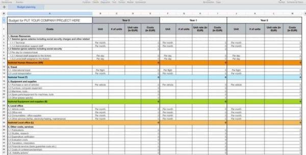 Wedding To Do List Spreadsheet