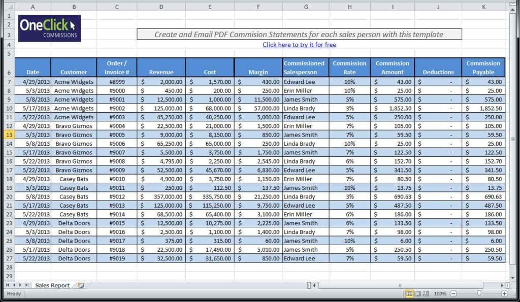 working with excel spreadsheets