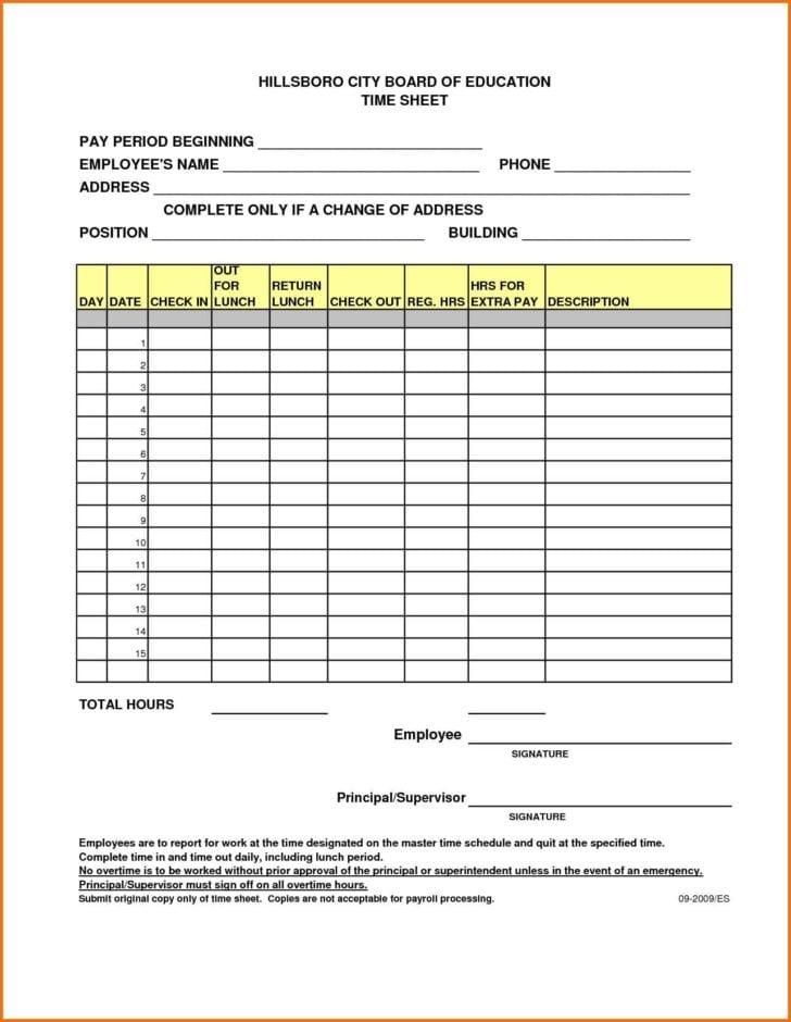 yearly timesheet template spreadsheet