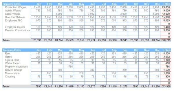 10 Column Accounting Worksheet Template