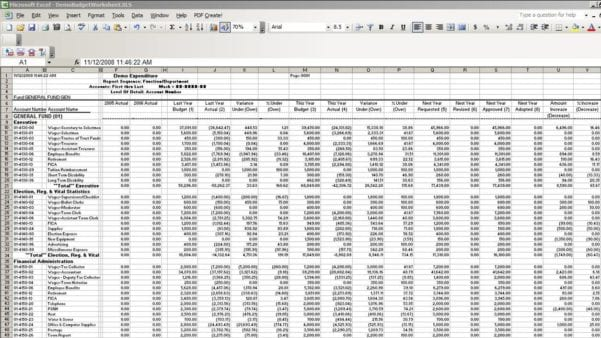 Accounting Spreadsheet Templates Excel