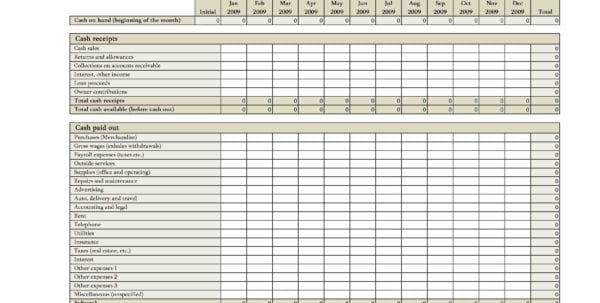 Accounting Spreadsheets For Small Business