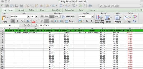 Basic Accounting Formulas Printable Worksheet