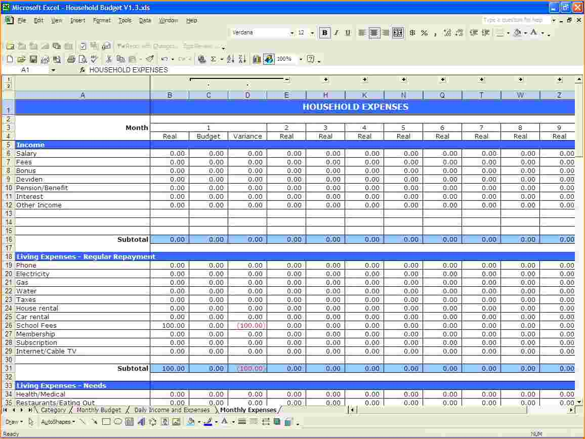 Best Personal Finance Spreadsheet