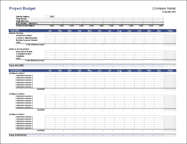 Budget Organizer Free Template
