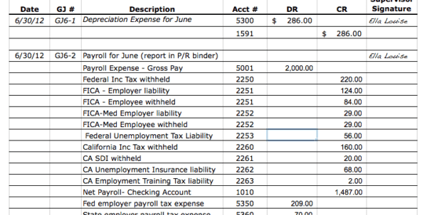 Free Bookkeeping Templates