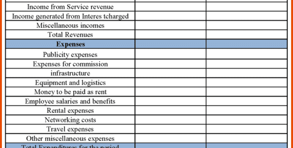 Financial Statements Templates For Small Business Income Statement Templates  Printable Financial Statement Form Free Business Financial ...