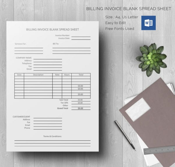 Free Excel Invoice Template