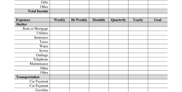 Free Income And Expense Forms Income Statement Worksheet Template Income Statement Template
