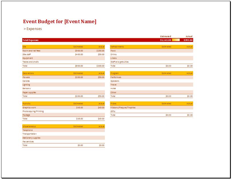 Free Printable Budget Worksheets 1
